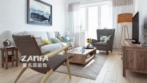 欧式 二居 白领 收纳 80后 小资 白富美 客厅图片来自紫名居装饰在金域华府两居室70平欧式的分享