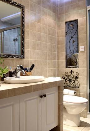 简约 美式 温馨 舒适 大气 80后 小资 卫生间图片来自成都生活家装饰在83平别致美式2居室的分享