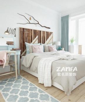 欧式 二居 白领 收纳 80后 小资 白富美 卧室图片来自紫名居装饰在金域华府两居室70平欧式的分享