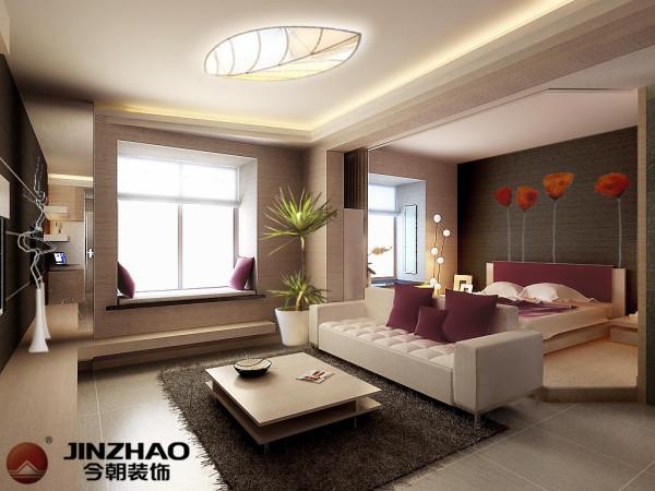 60平米-现代中式,简约欧式风格.