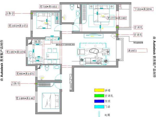 【户型优点】此户型为经典的三室,南北通透 ,采光非常好,空气流通性好。 【户型缺点】通道有些浪费,储藏空间比较少 。次卧室的格局不是特别好,两个卧室中间  的小过道属于浪费的状态。