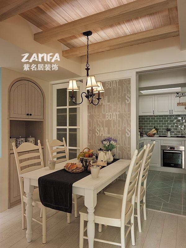 三居 地中海 收纳 白领 80后 小资 餐厅图片来自紫名居装饰在海峡城三居室158平地中海风的分享