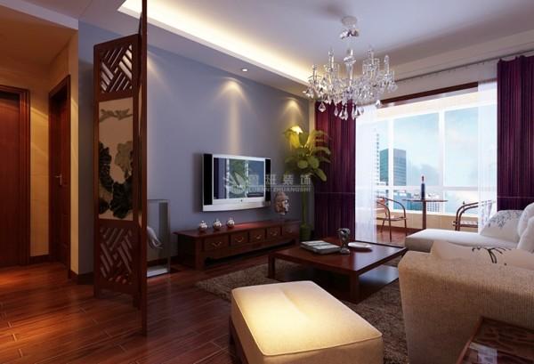 中式风格的天花板的装修主要分天花和藻井方式。由于居室层高普遍不高,因此藻井是很少用于家庭装修。
