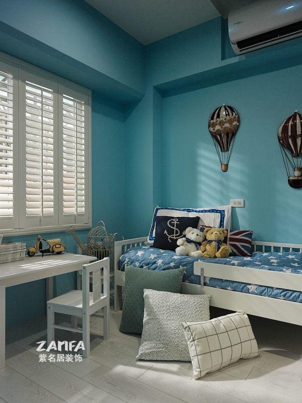 三居 地中海 收纳 白领 80后 小资 儿童房图片来自紫名居装饰在海峡城三居室158平地中海风的分享