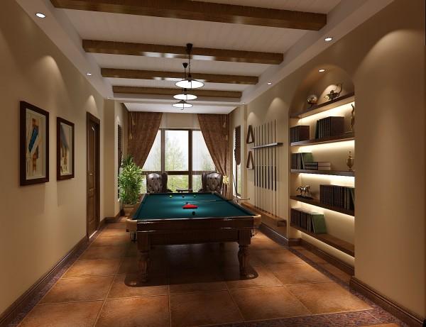 休闲室细节图 高度国际装饰设计