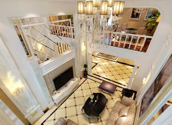 【成都实创装饰】复式—loft 简欧风格—整体家装—客厅装修效果图