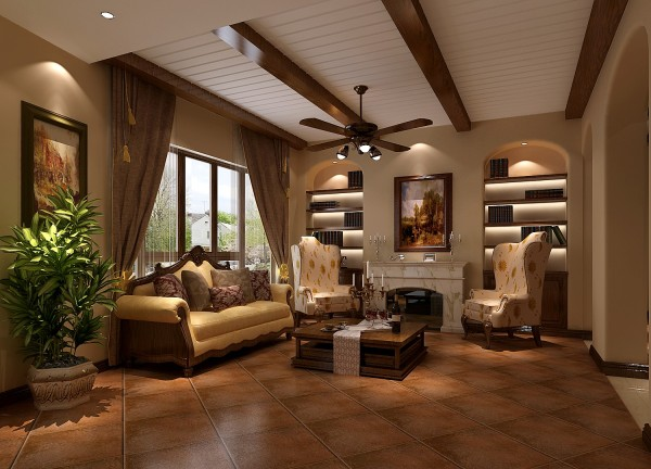 小客厅细节图 高度国际装饰设计