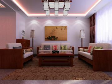 奥山世纪城中式三居彰显中国传统