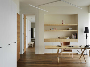简约 现代 温馨 时尚 舒适 二居 80后小资 书房图片来自成都生活家装饰在145平简约而不简单的现代2居室的分享