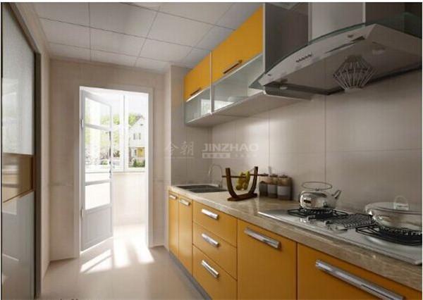 橱柜颜色特别且十分有设计感,收纳方便,体现着主人内心的彩色生活。