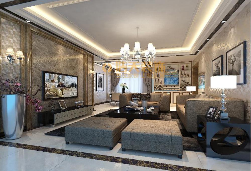 客厅图片来自深圳市浩天装饰在奥林华府的分享