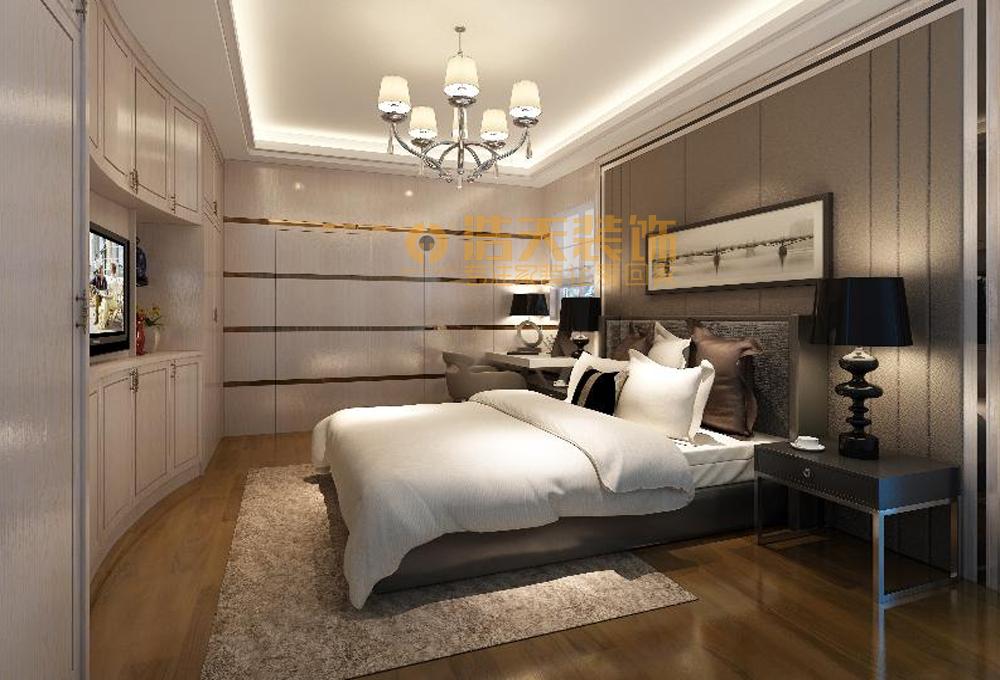 卧室图片来自深圳市浩天装饰在奥林华府的分享