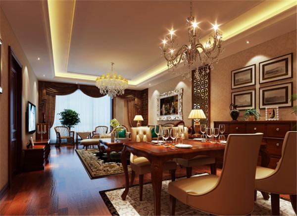 此户型在结构上未做改动,设计师针对业主的生活习惯和居家状况为其定制私人空间,因餐客厅空间相通,所以在顶面吊顶区域未做分割,但设计师通过墙面的装饰花格对