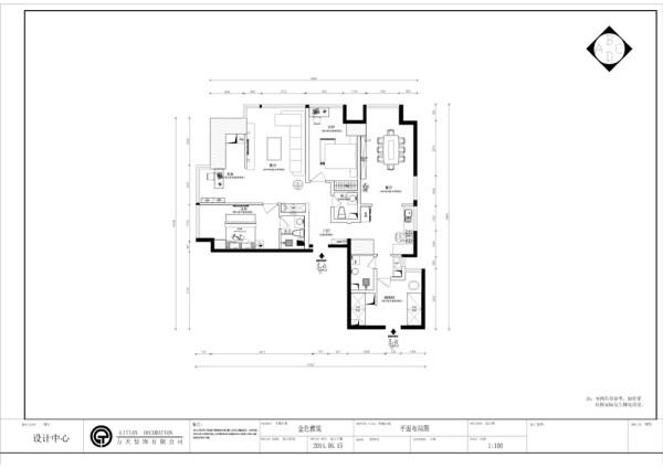 整个房型的面积比较大根据要求定位美式田园风格整体空间以重色为主和局部碎花的配饰用来体现空间的惬意、舒适、自然的感觉的同时不失空间的大气感和体现业主的品味修养。