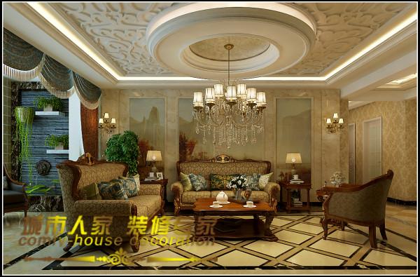 整个房子的设计采用的是简欧风格,家居没有选用以往欧式风格惯用的白色清新风格,而是选用了色调比较深沉的红色和金色,让房子的整体彰显出了一种低调的奢华感,具有欧式古典风韵