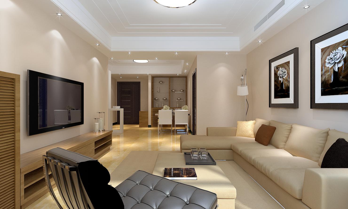 简约 实创 新房装修 客厅图片来自天津实创装修_装饰在亿城堂b户型庭最受欢迎简约风格的分享