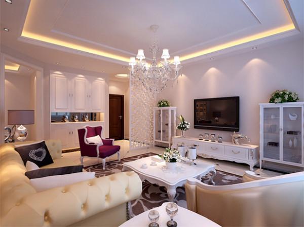设计理念:客厅背景的灯饰设计具有西方风情的造型,比如壁灯,在整体明快、简约、单纯的房屋空间里,传承着西方文化底蕴的壁灯静静泛着影影绰绰的灯光,朦胧、浪漫之感油然而生。