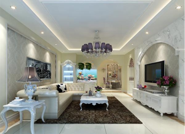 简洁的白色,典雅的咖色,神秘的紫色,简约大气的造型,打造欧式客厅。