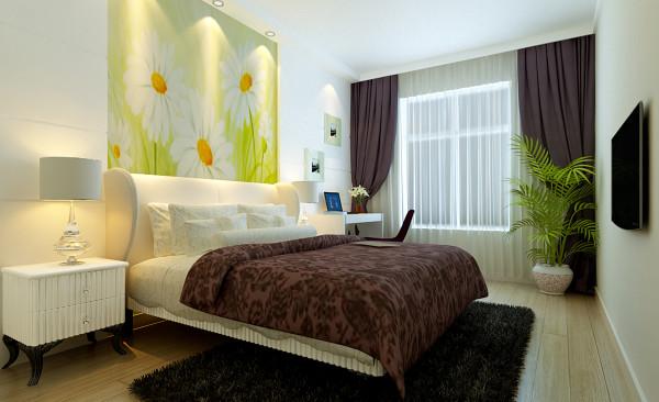 设计理念: 卧室不需要豪华的设计,只需要大方简单的设计,色彩简单,写字台及和床头背景的分割,使整个空间格局简单而有规律。  亮点:带有简约气息的衣柜,映入眼帘的大气及高贵,把真个卧室凸显的亮丽而不单调。