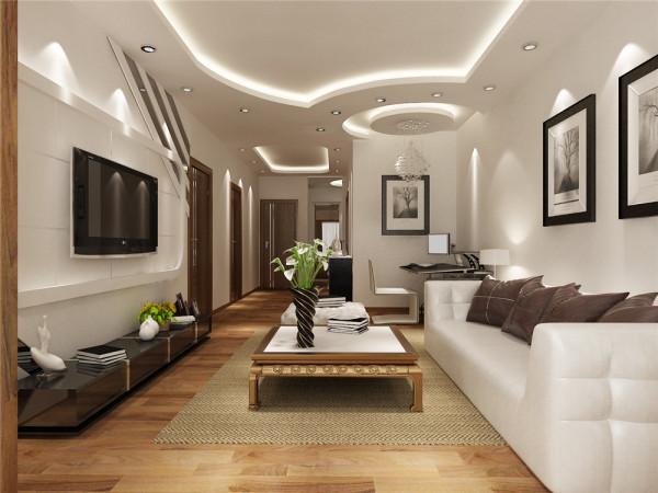 这是一套两室一厅的户型。适合年轻人居住。整体的设计风格简单明快,属于简约大方型设计。这种设计的好处是用时少,经济实用,美观大方,温馨典雅。
