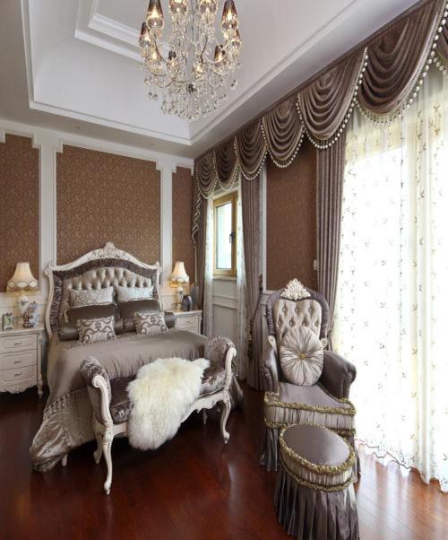别墅装修 卧室图片来自天津别墅装修在大地十二城1的分享