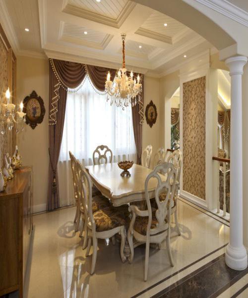 别墅装修 餐厅图片来自天津别墅装修在大地十二城1的分享