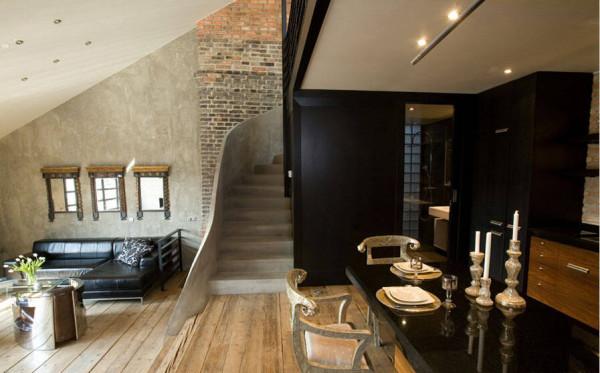 开放式的厨房为客厅延展了空间。