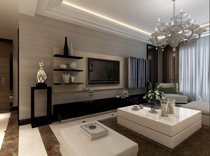 简约 三居 80后 客厅图片来自沈阳名室经典装饰在名流公馆 三居室现代风格效果图的分享