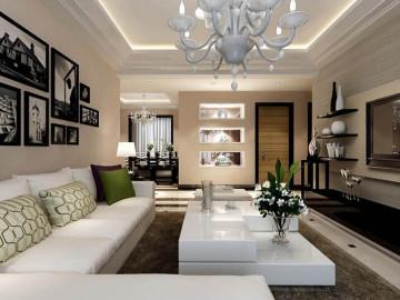 名流公馆 三居室现代风格效果图