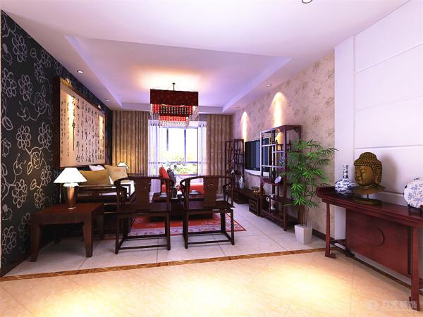 本方案吊顶,显得空间更有层次。家具需要完美的软装配合,才能显示出美感。如沙发靠垫,窗帘和餐桌的餐布等。本案例色彩比例,主要体现在沙发靠垫上,中国黄色和红色代表着高贵大气的意义