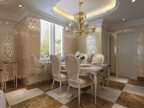 餐厅的灯光很重要既不能太强又不能太弱,灯光则以温馨和暖的黄色为基调,顶部做了简单的吊顶。