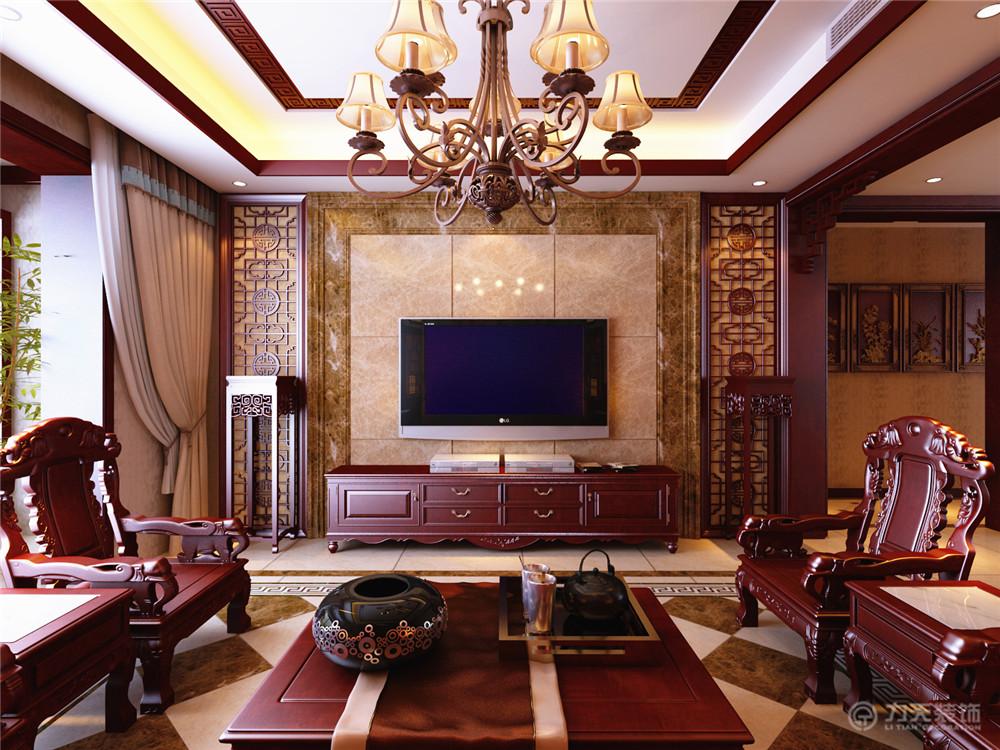 客厅图片来自阳光放扉er在宜和澜岸-178平米-中式风格的分享