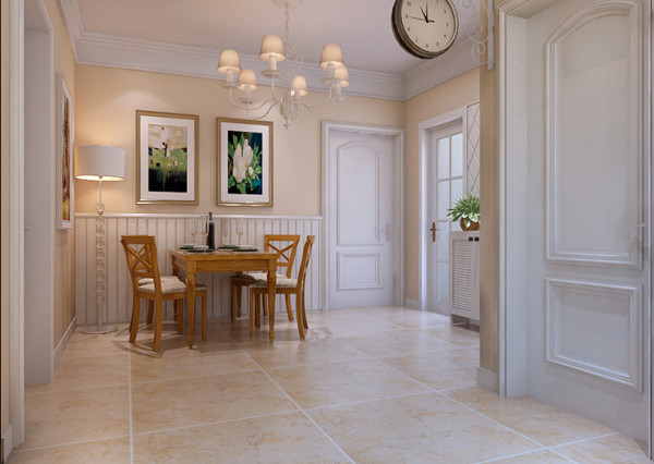 东方鼎盛88平方两室两厅装修案例,餐厅装修效果图