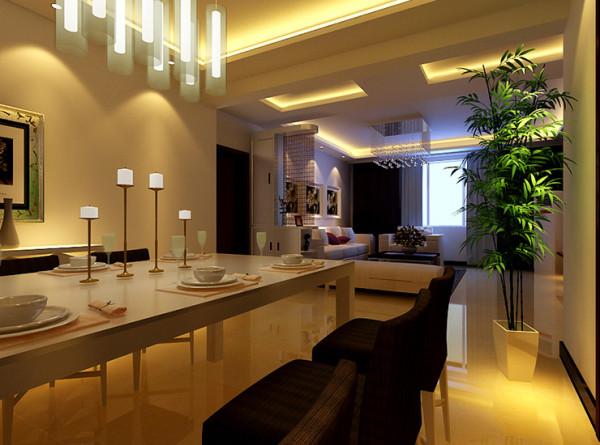 郑州奥兰花园160平方4室2厅两卫餐厅装修效果图