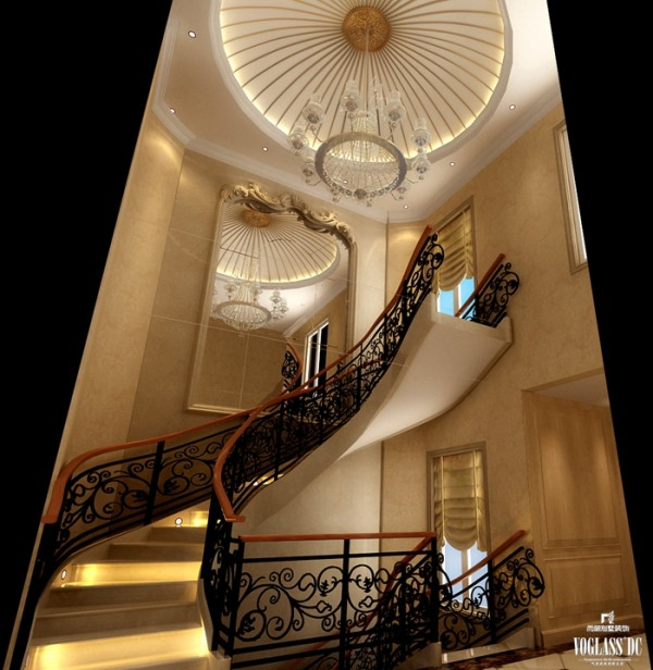 中西汇通打造雅致别墅空间设计——楼梯