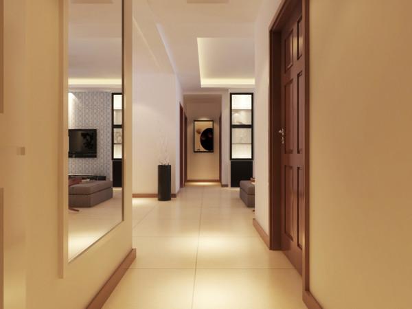 客餐厅地面采用米黄色800*800地砖正铺。