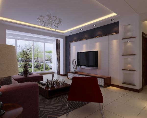 中海国际 现代风格 百家装饰 婚房装修 三居 四居 新房装修 客厅图片来自百家装饰小姜在中海国际150平 现代风格的分享