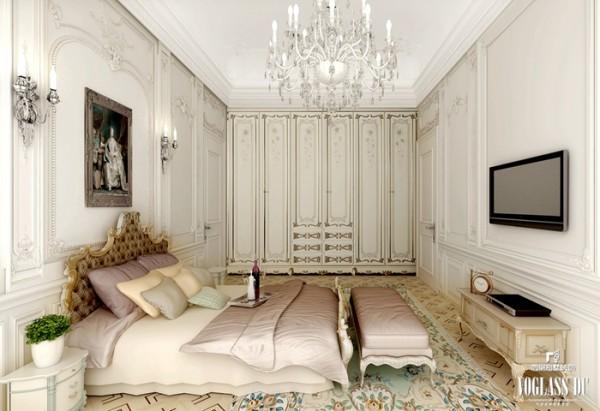 女儿的卧房是几个空间中设计最为简单的,摒弃了不需要的别墅配饰,只留下最具有实用性和功能性的床、衣柜,安静的环境、私密而细致。