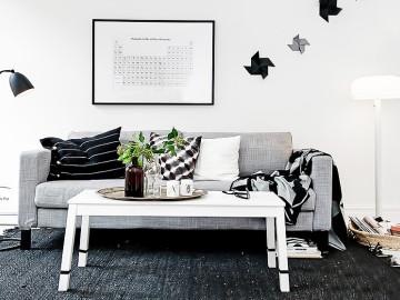 演绎白色经典73㎡北欧风格装修