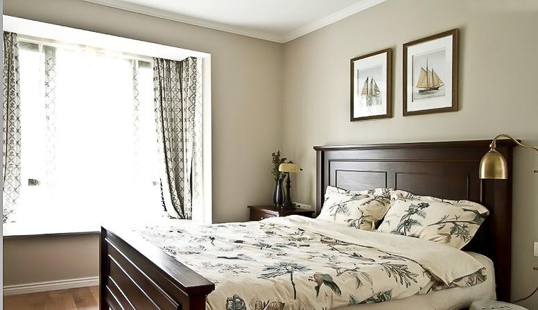 137㎡装修 三居 美式风格 装修设计 原木家具 环保材料 实用收纳 布艺家纺 卧室图片来自居佳祥和装饰在都市恬淡136㎡温馨美式装修的分享