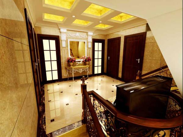 好房子就要装修好效果-棠溪人家-别墅装修-楼梯口装修效果图