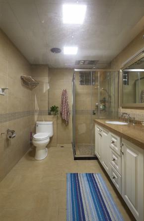 简约 三居 美式 白领 时尚 温馨 卫生间图片来自孙进进在139平美式演绎时尚温馨穿越之恋的分享
