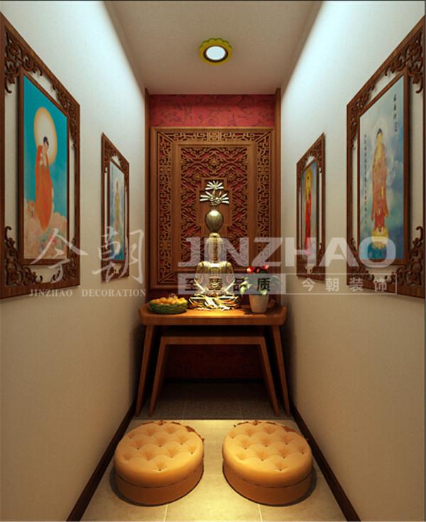 佛堂的设计有点类似于玄关,老人比较信奉佛教,此处的空间也充分地得到了利用。