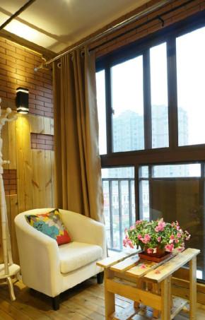 简约 二居 80后 小资 现代风格 温馨 舒适 阳台图片来自成都生活家装饰在82平温馨简约现代两居室的分享
