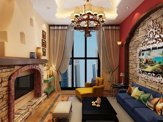客厅图片来自周海真在色彩绚丽的异域地中海风情的分享