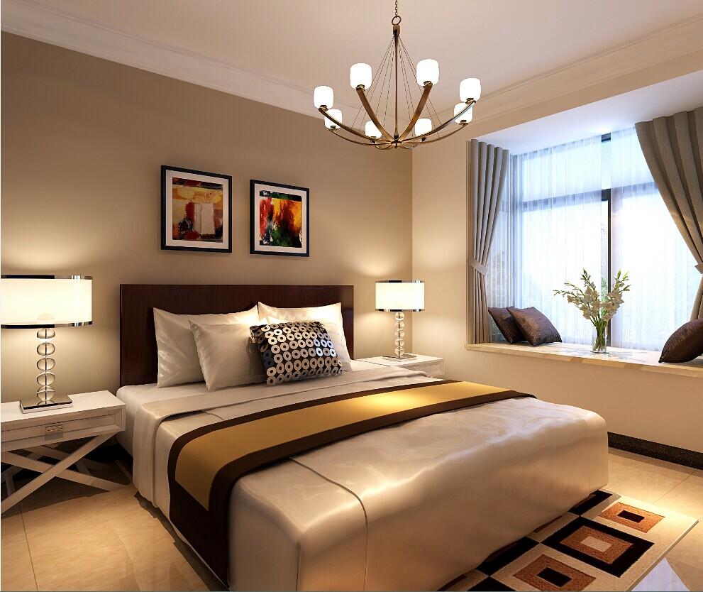 卧室图片来自大业美家装饰在珠江荣景三居室简约风格装修的分享