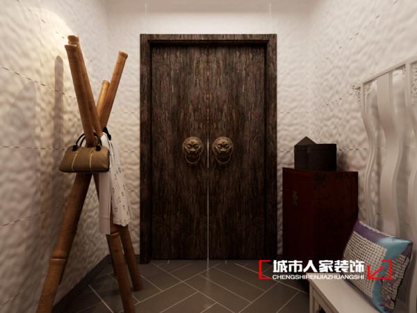 首先入户门厅单独放置,一方面符合了最基本的生活习惯,另一方面可以把一天工作上的烦恼放置在家门之外,回到屋里感受家的氛围。