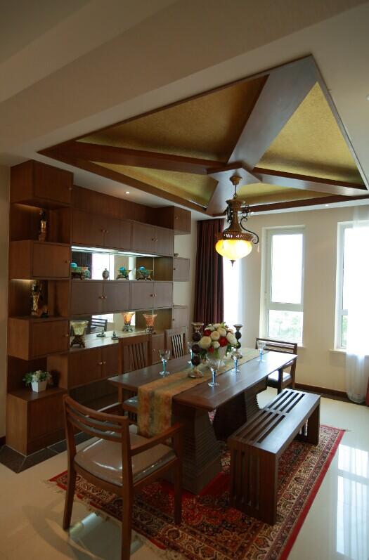 东南亚 餐厅图片来自郑州实创装饰-杨淑平在农大家属院时尚的东南亚风格设计的分享