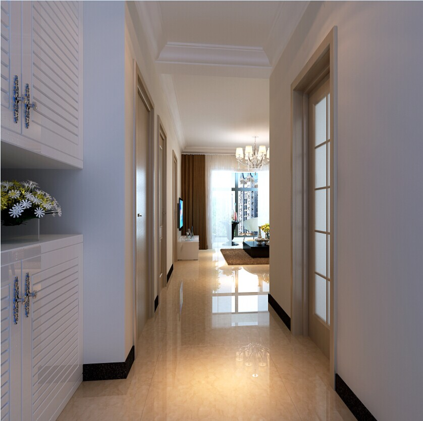 玄关图片来自大业美家装饰在珠江荣景三居室简约风格装修的分享
