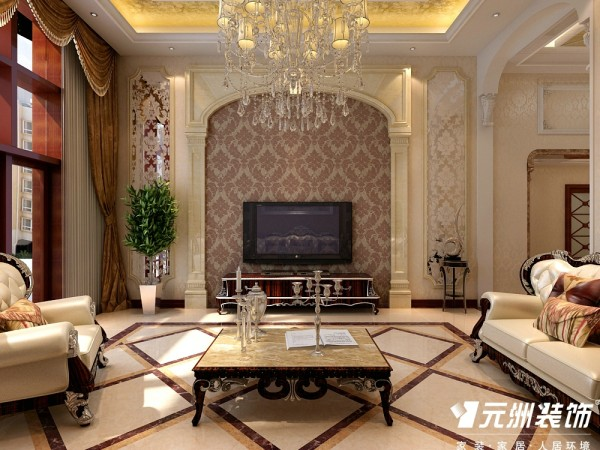 客厅古典欧式的设计古朴大气。